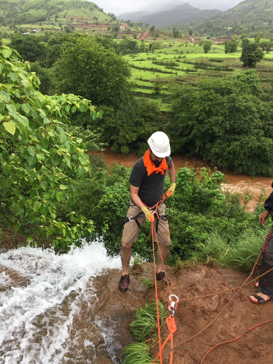 Waterfall rappelling @ Nisargshala