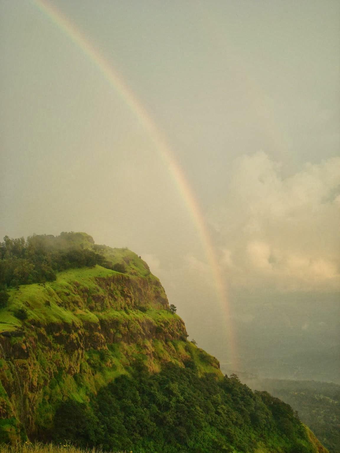 A rainbow @ Madhe ghat