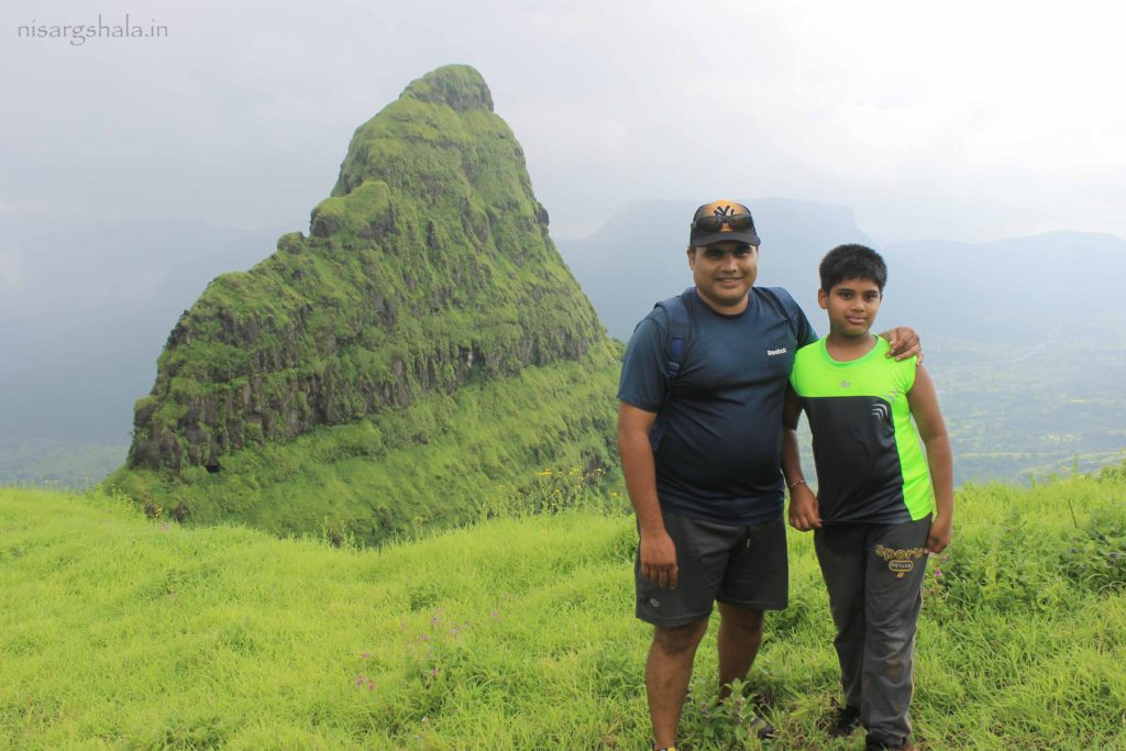 Ajit with his son Devaang